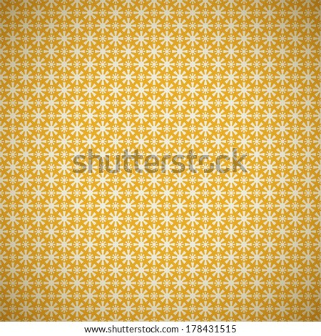 Vintage summer vector seamless pattern (with swath, tiling). Retro yellow shabby color. Endless texture can be used for printing onto fabric, paper, scrap booking. Abstract shape. Sun. - stock vector