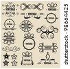 Vintage symbols - stock vector