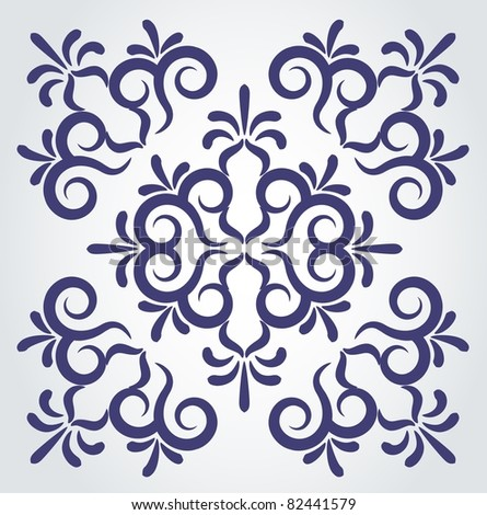 Vintage tapestry element . Vector