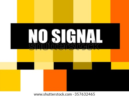 vintage television test pattern design with no signal design - stock vector