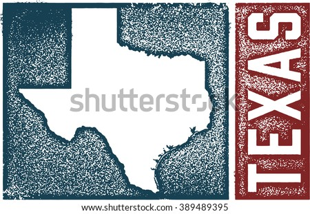 Vintage Texas State Sign - stock vector