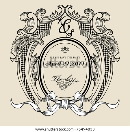 Vintage Text Frame Your Need Stock Vector HD (Royalty Free) 75494833 ...