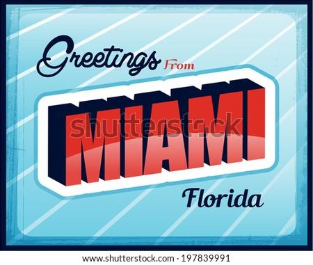 Vintage Touristic Greeting Card design eps10 copyspace - stock vector