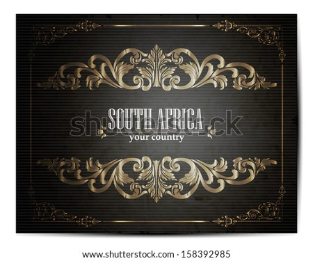 Vintage Touristic Greeting Card - South Africa - Vector EPS10.  - stock vector
