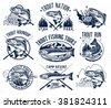 vintage trout fishing emblems ...