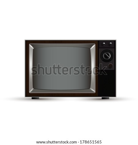 vintage tv - stock vector