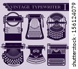 Vintage typewriter I - stock vector