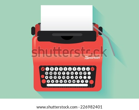 vintage typewriter vector/illustration - stock vector