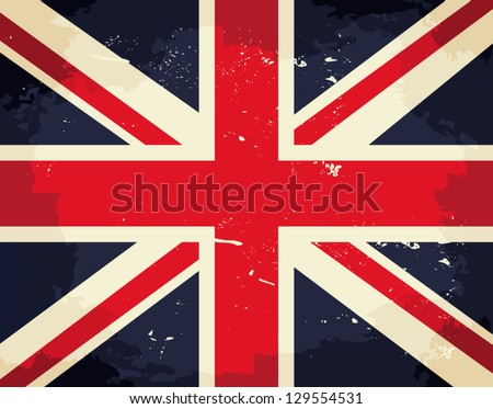 Vintage Union Jack flag. - stock vector