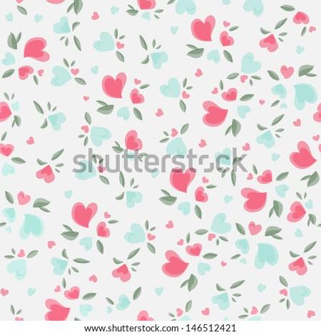 Vintage Valentine Pattern - stock vector