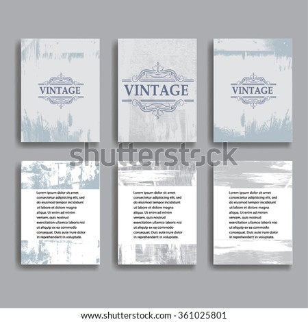 Vintage Vector Brochure Or Layout Magazine Halftone Dotted Abstract Flyer In Grunge Style Scratch