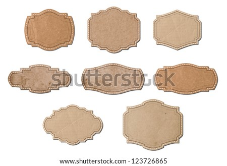 Vintage vector cardboard banners / labels collection - stock vector
