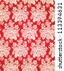 Vintage Vector Damask Floral Brocade Tapestry Wallpaper Background Pattern - stock vector
