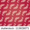 Vintage Vector Floral Garden Damask Brocade Background Tile Pattern - stock vector