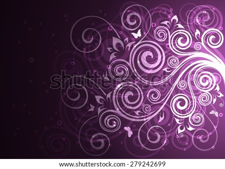 Vintage vector floral illustration. - stock vector