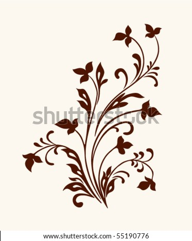 vintage vector flower decor - stock vector