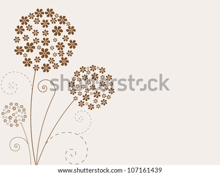 Vintage vector flowers background - stock vector