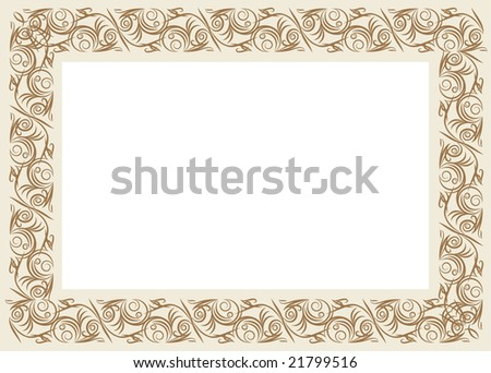 Vintage Vector Frame Lot Similar Images Stock Vector 21799516 ...