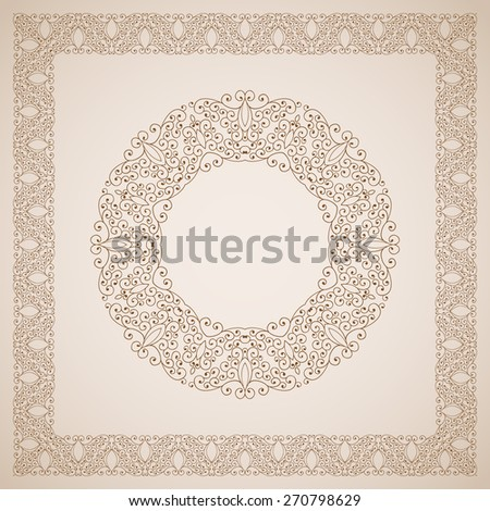 Vintage vector frames and decorative floral elements - stock vector
