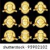 Vintage vector gold frame - stock vector