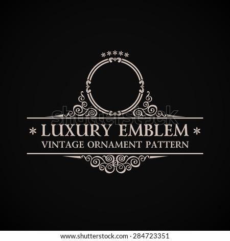 Vintage vector logo. Calligraphic elegant decor element ornament - stock vector