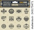 Vintage vector logotypes, insignias, badges and labels. Pack 4. - stock vector