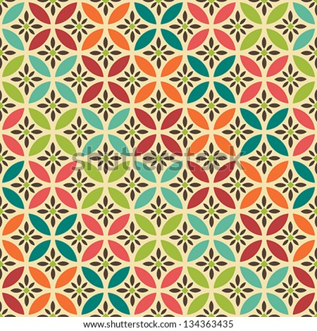 Vintage vector seamless pattern. Abstract background. Vector background. Vintage pattern. Retro pattern. - stock vector