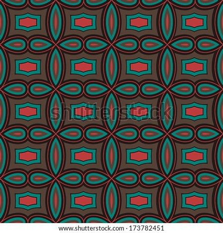 Vintage Vector Seamless Pattern - Geometric - stock vector