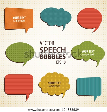 vintage vector speech bubbles background for your design - stock vector