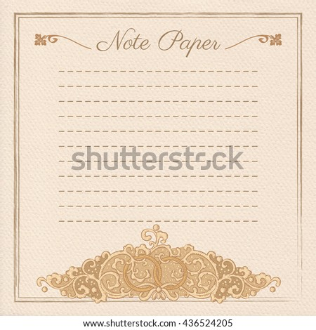 Vintage vector wedding stationery background with medieval ornament and rings - stock vector