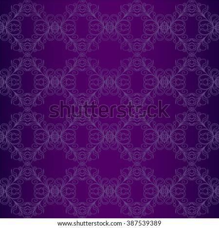Vintage wallpaper. Seamless background. Vintage wallpaper. Purple background.Vector illustration - stock vector