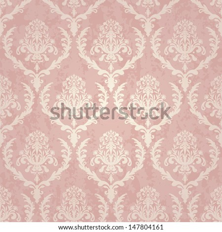 vintage wallpaper seamless with texture - stock vector