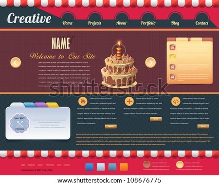 Vintage Website design vector elements - stock vector