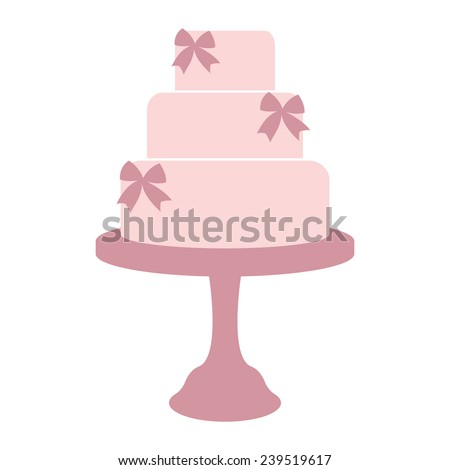 vintage wedding cake label isolated on stock vector royalty free