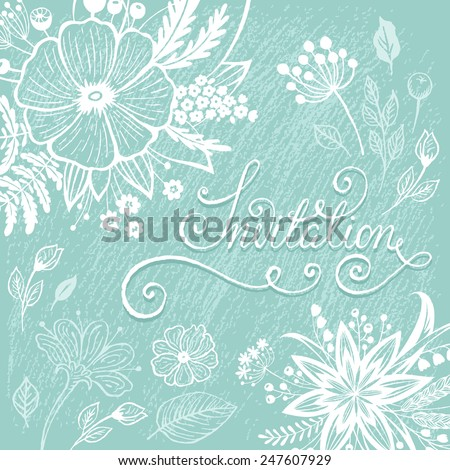 Vintage wedding invitation card. Vector illustration - stock vector