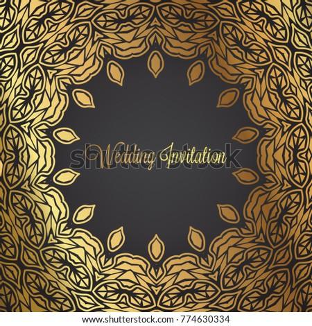 Vintage Wedding Invitation Templates Cover Design Stock Photo (Photo ...