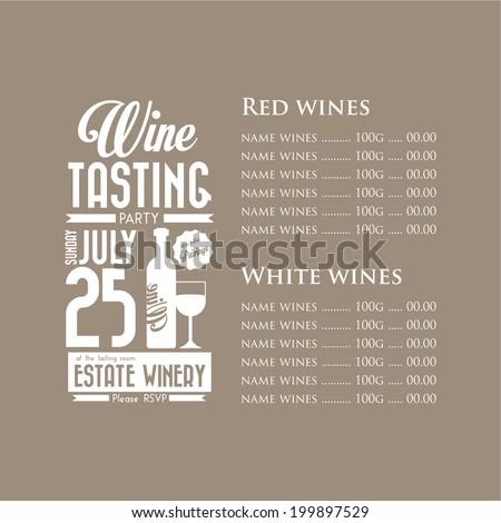 Vintage Wine Tasting Party Invitation Design Vector – Wine Tasting Party Invitation