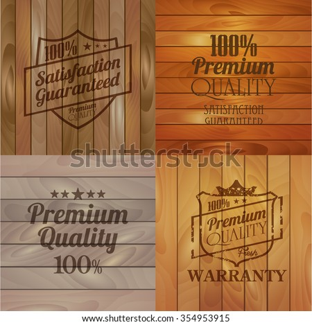 Vintage Wooden striped fiber textured background. Abstract decorative realistic natural wood texture. Vector background for your design - stock vector