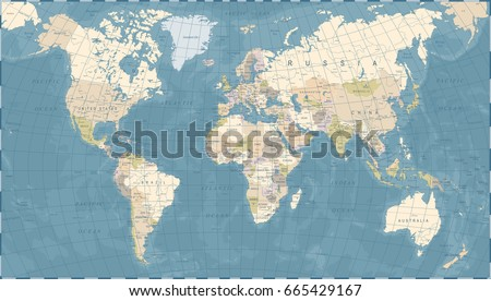 Vintage world map detailed vector illustration stock vector hd vintage world map detailed vector illustration gumiabroncs Choice Image