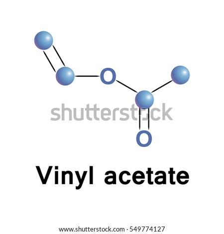 Vinyl Acetate Organic Compound That Precursor Stock Vector
