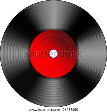 Vinyl disc - stock vector