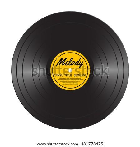 New Gramophone Vinyl Lp Record Yellow Stock Vector