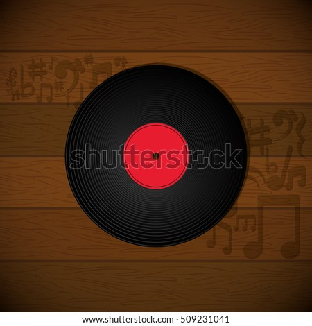 vinyl music vintage icon vector illustration graphic design