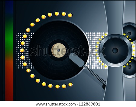vinyl player vector illustration
