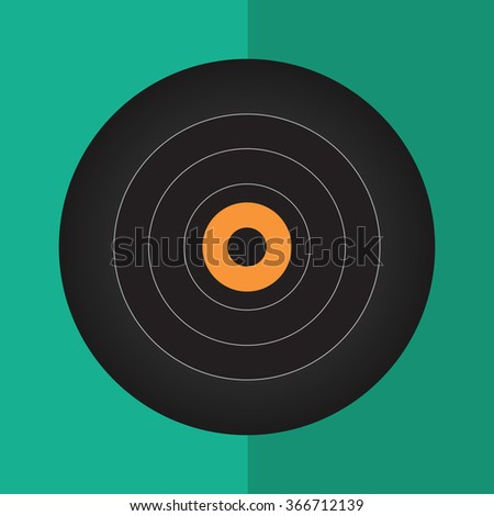 Vinyl record icon.flat color background vector