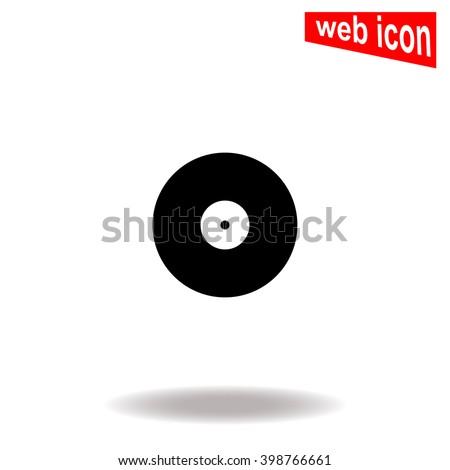 Vinyl record icon. Vinyl record icon vector. Vinyl record icon illustration. Vinyl record icon web. Vinyl record icon Eps10. Vinyl record icon image. Vinyl record icon logo. Vinyl record icon sign. UI - stock vector