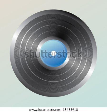 Vinyl Record isolated on a white background. Vector.