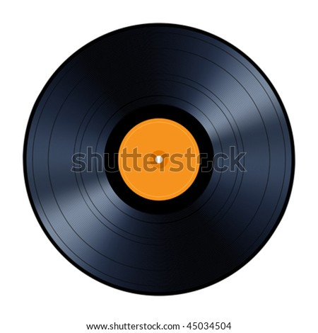 Vinyl record isolated on white background, vector illustration