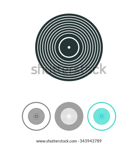 Vinyl record vector icon.