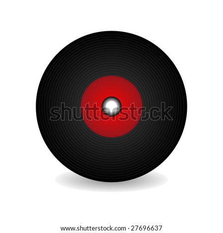 Vinyl record, vector retro illustration